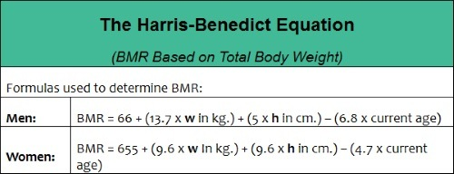harris-benedict equation